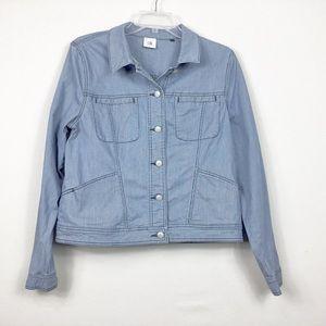 CAbi Denim Chambray Shirt Jacket